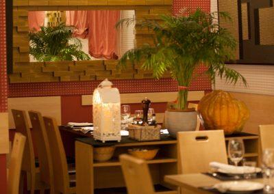 Ambiente perfecto en el Restaurante Vinoteca García de la Navarra